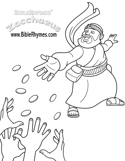 Coloring Pictures Free And Printable Biblerhymes Books Zacchaeus Kids Sunday School Lessons Sunday School Kids