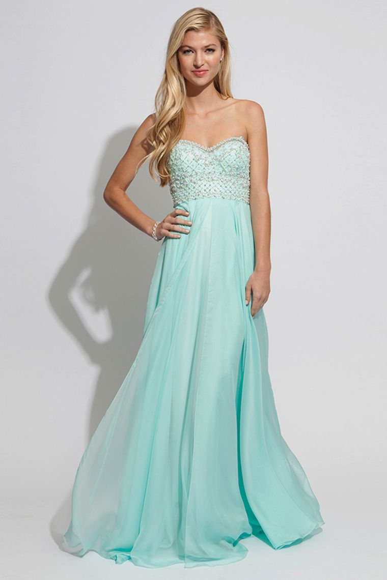 2014 Prom Dresses Sweetheart A Line Beaded Bodice Pick Up Shirred ...