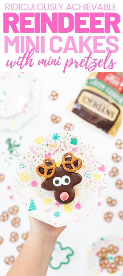 Mini Reindeer Cakes Recipe Reindeer cakes, Best