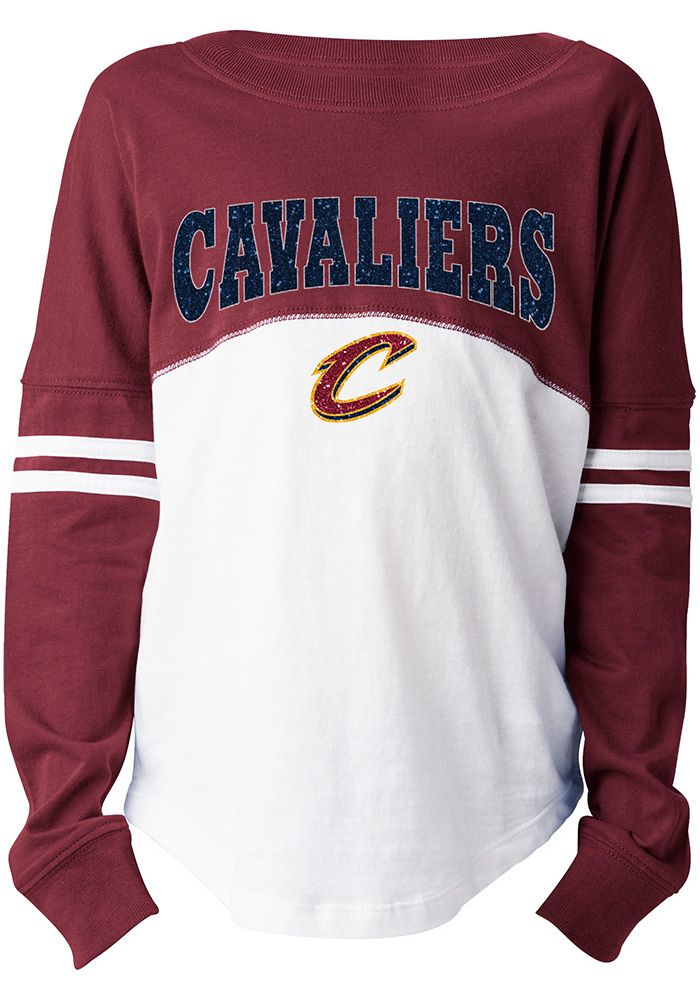 on sale c84b4 2e11a Cleveland Cavaliers Girls Red Varsity Long Sleeve T-shirt ...