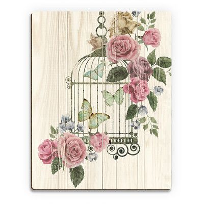 Photo of Click Wall Art Butterfly Cage Graphic Art on Plaque | Wayfair