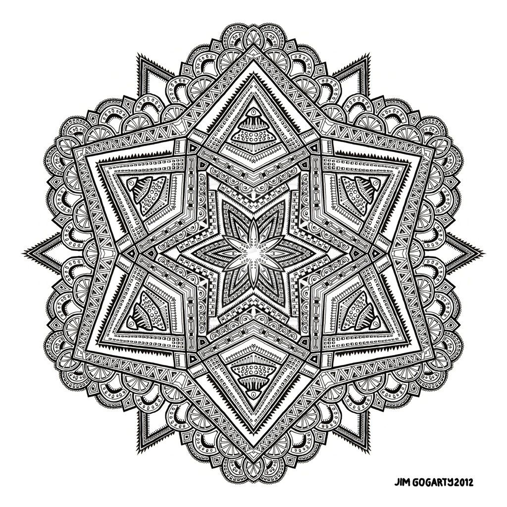 Mandala 54 By Mandala Jim D5mnp3n Jpg 1024 1024 Mandala Coloring Pages Mandala Coloring Books Mandala Coloring
