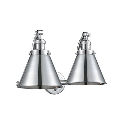 Photo of Breakwater Bay Calahan bathroom mixer 2-Light Vanity Light Finish: polished chrome, color / pattern: polished chrome, lamp type: incandescent lamp