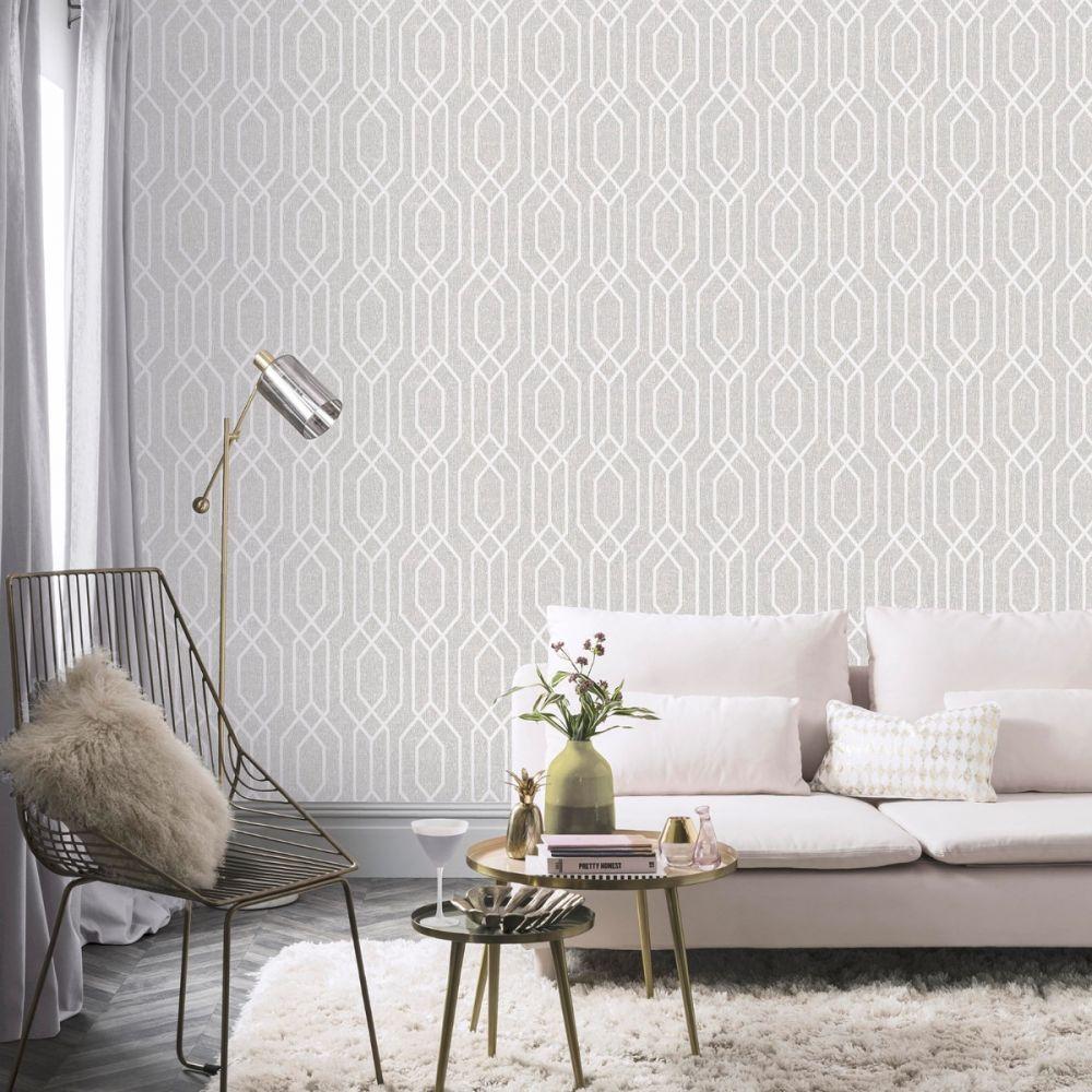 New York Geo Trellis Wallpaper Grey Arthouse 908300 Grey Wallpaper Geometric Wallpaper Grey Teal Wallpaper
