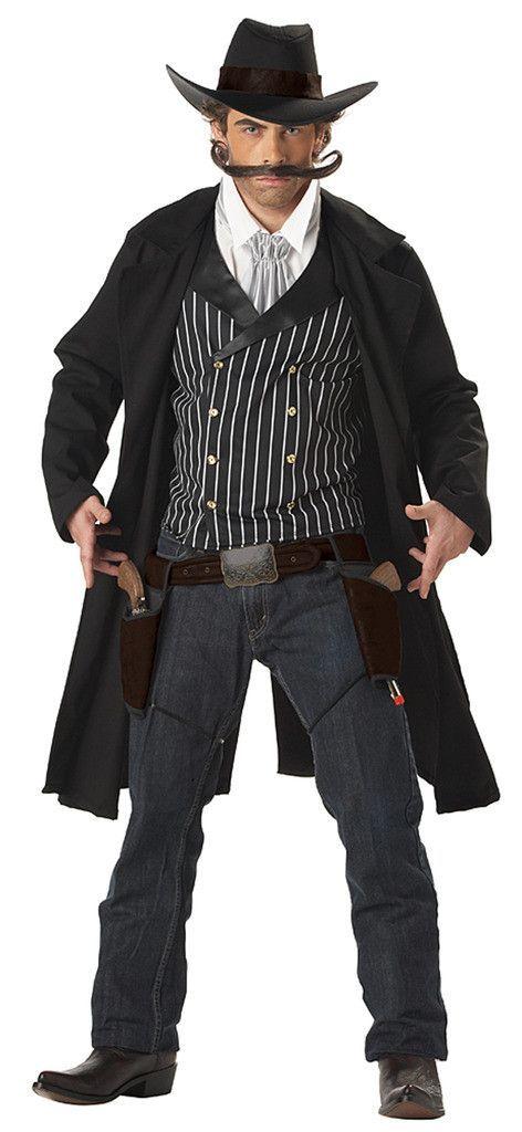 Cowboy Vest /& Chaps Set adult mens Western Halloween costume Standard Size
