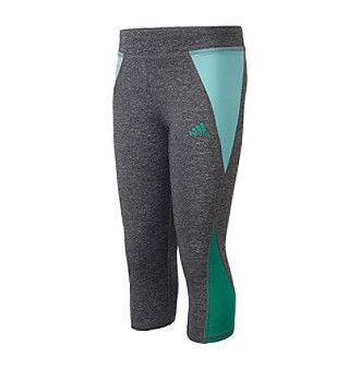 adidas® Girls' 7-16 Colorblocked Capri Tights