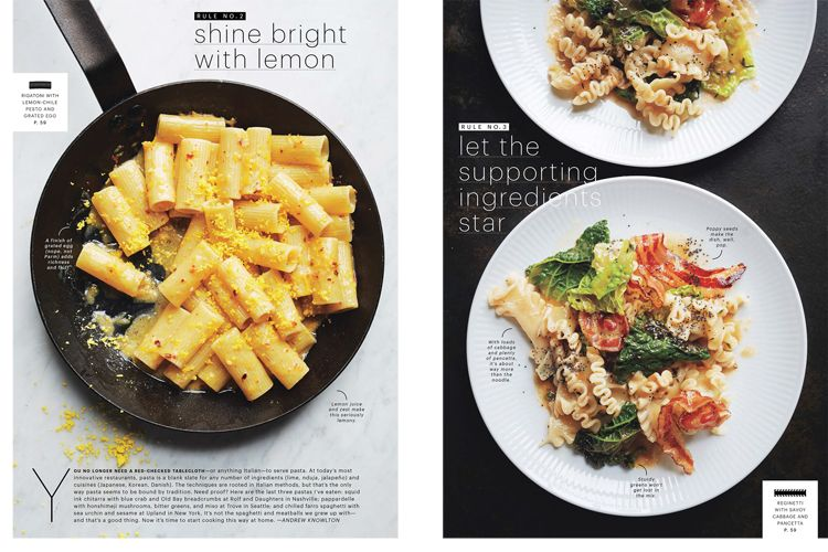 Marcus Nilsson Photography: BON APPETIT-The New Rules of Pasta.