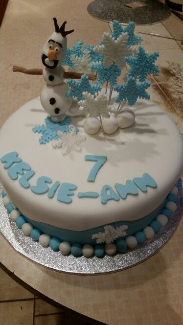 Fine 7 Year Old Girl Frozen Olaf Birthday Cake With Images Minnie Funny Birthday Cards Online Hetedamsfinfo