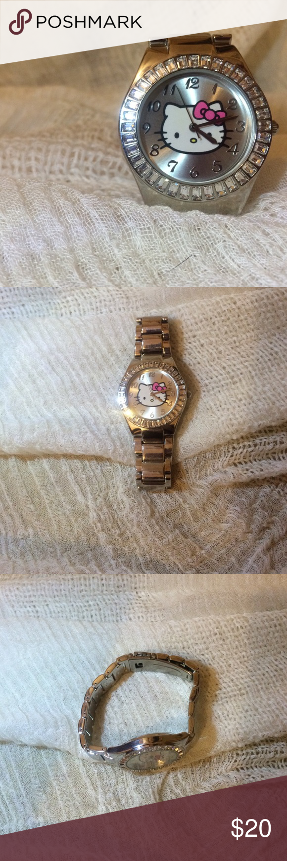 Hello kitty watch 💕 Never worn but needs a new battery I received it has a birthday gift and just never wore it. Accessories Watches