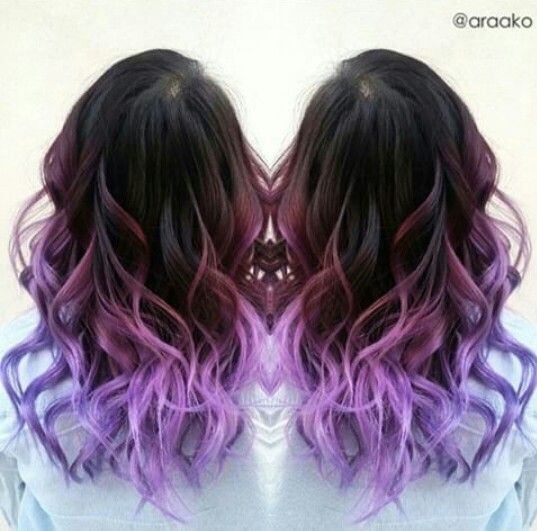 Pink Purple Hair Cute Color For Teens Or Girls Purple Ombre Hair Ombre Hair Color Purple Hair Color Ombre