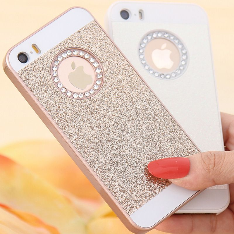 88b4fa9e455 5S Fundas Cute Candy Glitter Bling Diamond Back Cover For Apple iPhone 5 5S  SE Case Hard Phone Cases for iPhone 7 6 Plus Case