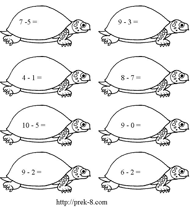 turtle activities for preschoolers – Free Printable Color by Number Addition Worksheets
