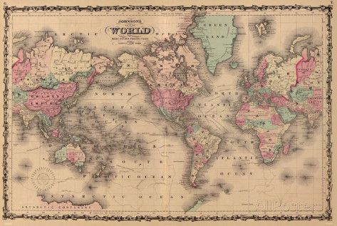 Old World Map Colorful Art Print Poster | Print poster, Toddler ...