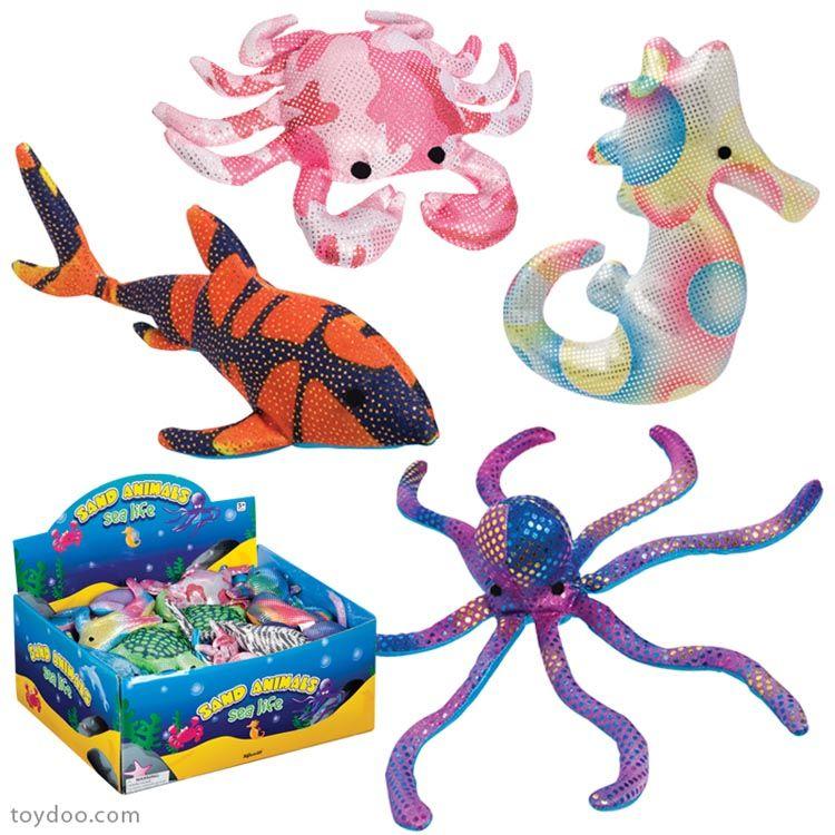 Sand Filled Stuffed Animals, Sand Animals Sea Life Toysmith Pack Of 36 Ea Toydoo Com Sea Animals Animals Pet Toys