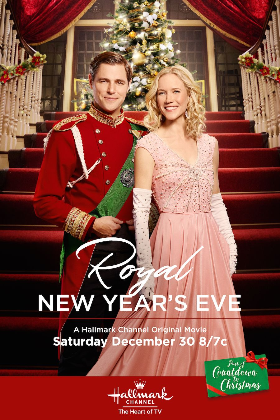 Royal New Year's Eve Sam Page and Jessy Schram celebrate
