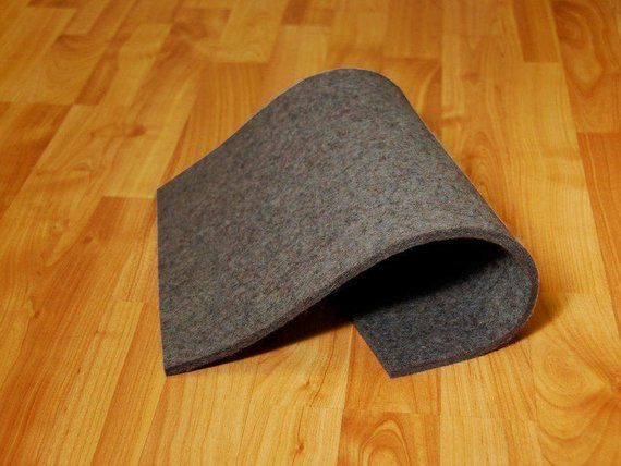 Low Density Industrial Wool Felt By The Foot Natural Gray Sae