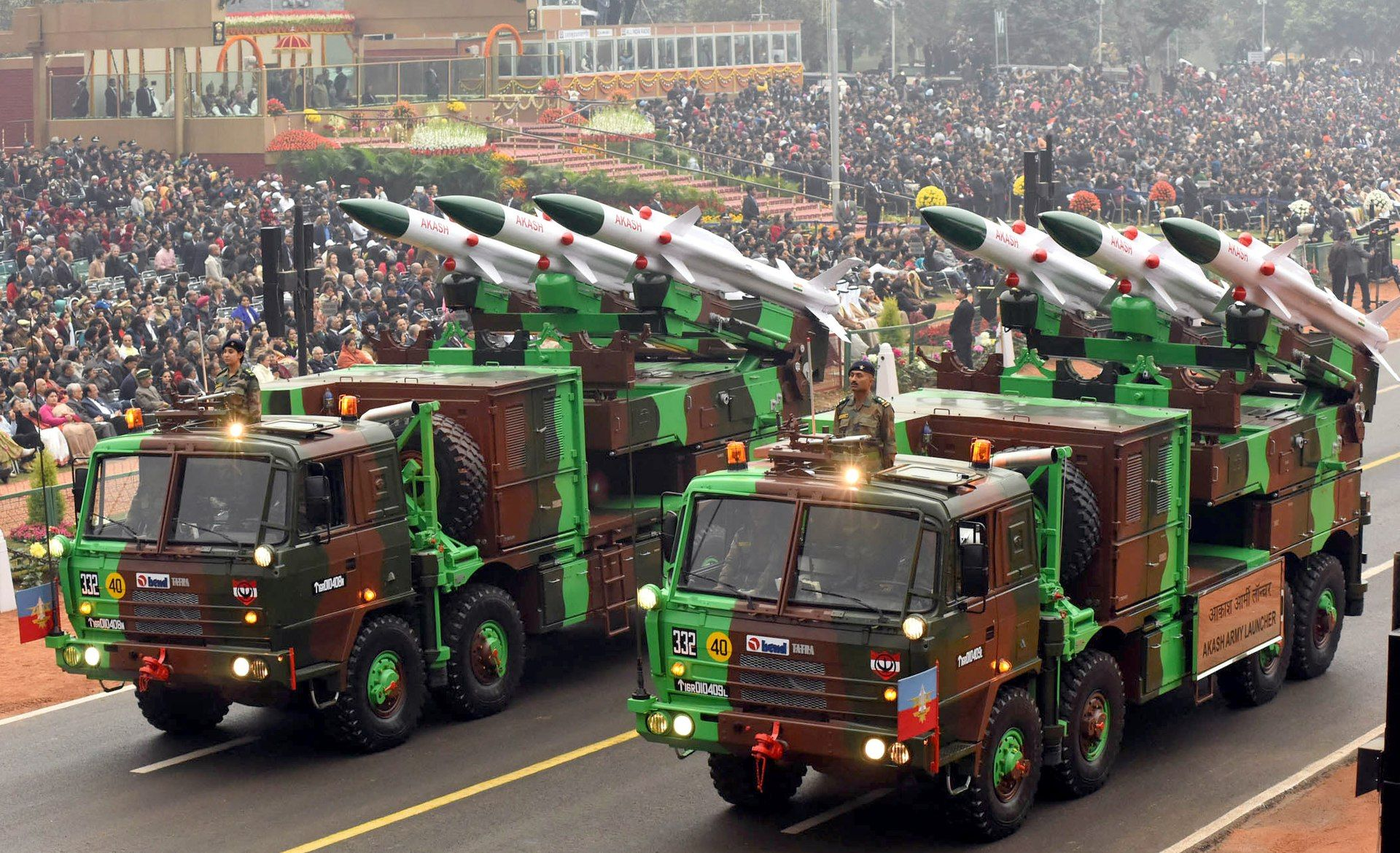 Akash missiles during Republic Day 2017 - Akash (missile) - Wikipedia |  Defence, Top air, Republic day