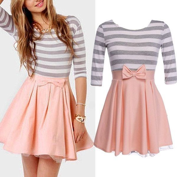 Ashley Stripe Flounce Dress (235 SEK) ❤ liked on Polyvore featuring dresses, outfits, vestidos, flounce dress, frill dress, flutter-sleeve dress, ruffle dress and striped dress