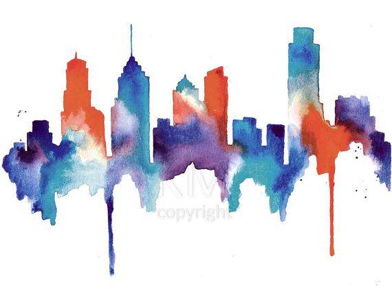 Philadelphia Skyline By Michael Tompsett Skyline Art San Antonio Skyline Wall Art Prints