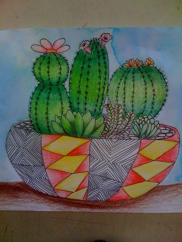 Cactus and succulent artwork