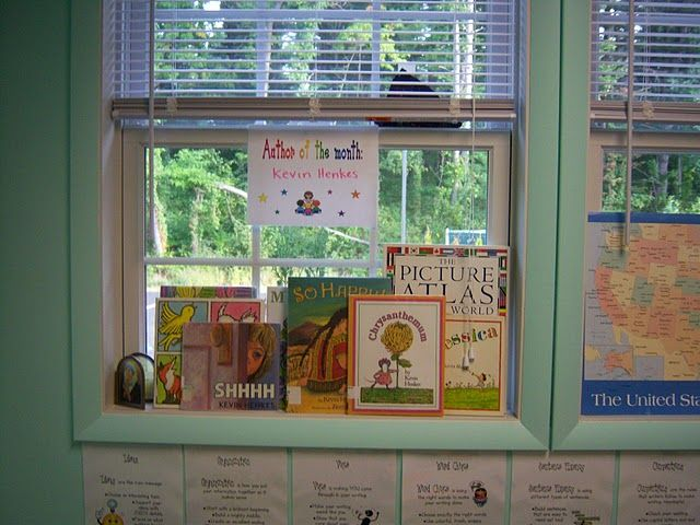 Author of the month section-I love this idea!