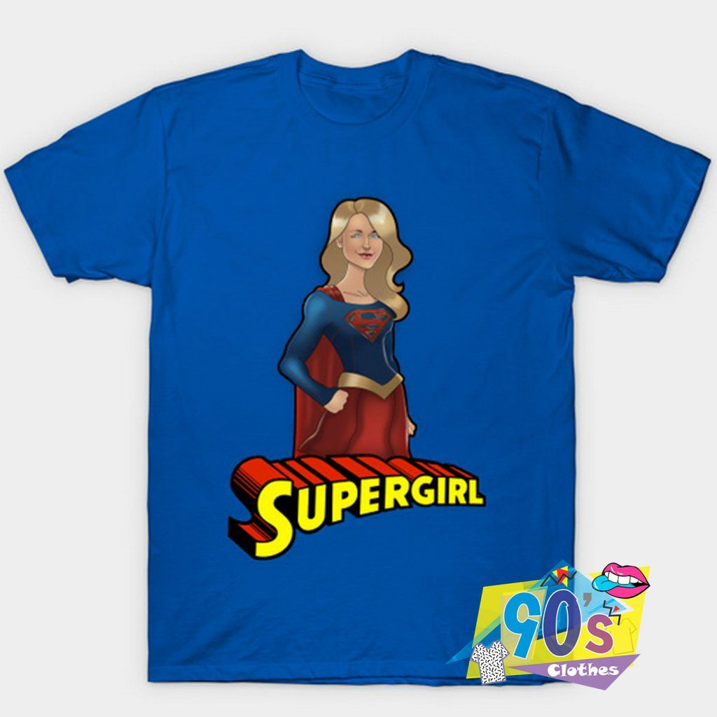 Funny Melissa Benoist Is Supergirl T Shirt #adventlustigerster