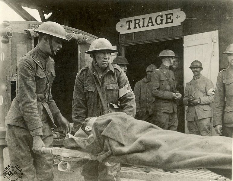 Systematic medical triage began during WWI when surgical treatment of injuries had a better than not chance of saving a life. However, there were a limited number of surgeons and surgical facilities and this and other necessities led to the very reasonable system of triage.