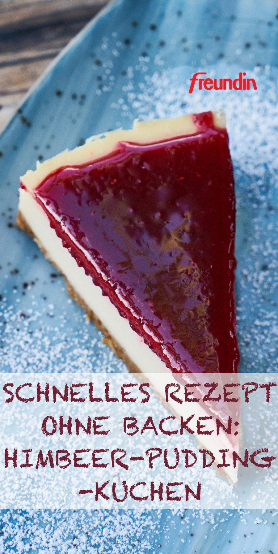 Photo of Schnelles Rezept ohne Backen: Himbeer-Pudding-Kuchen   freundin.de