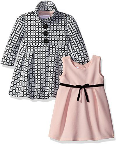 a76db67f7 Bonnie Baby Girls Two Piece Dress and Coat Set BlackWhite 69 -- Details can  be found by clicking on the image.Note:It is affiliate link to Amazon.