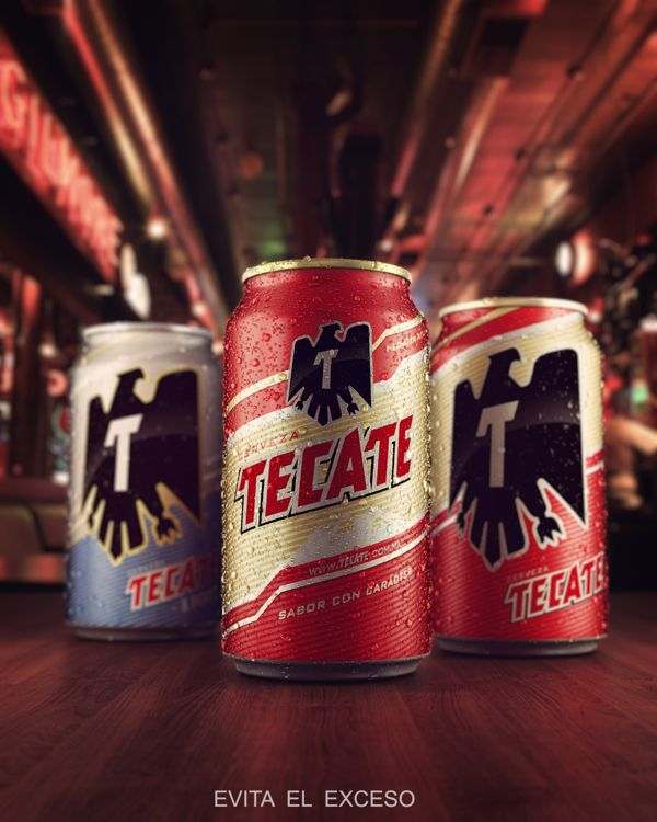 3d tecate beer cans by antonio luna via behance drink up 3d tecate beer cans by antonio luna via behance mozeypictures Choice Image