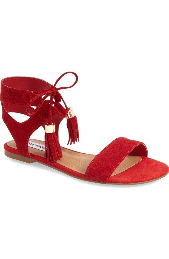 Steve Madden red sandals