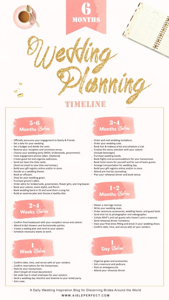 6 month wedding planning timeline happily ever after pinterest