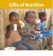Give the gift of healthy food via lunch and nutrition programs.