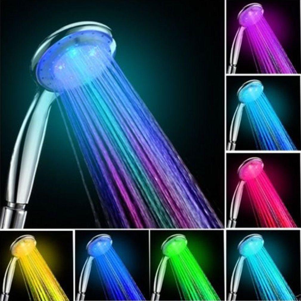 1 99aud Romantic Automatic 7 Color Led Lights Handing Shower Head Faucet For Bathroom Ds Eb Led Shower Head Led Color Changing Lights Shower Heads