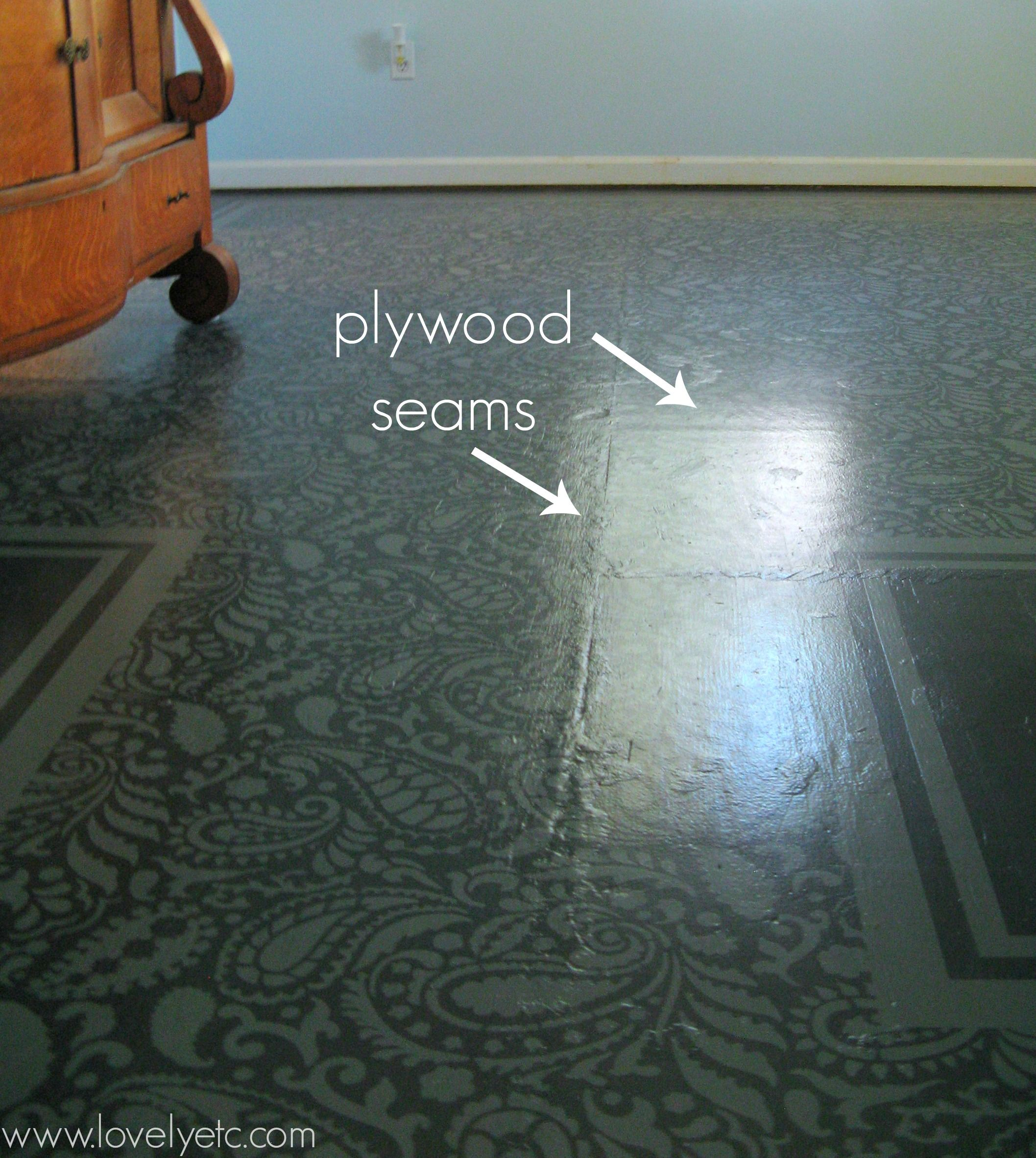 Painted Plywood Floor Update The Good The Bad And The