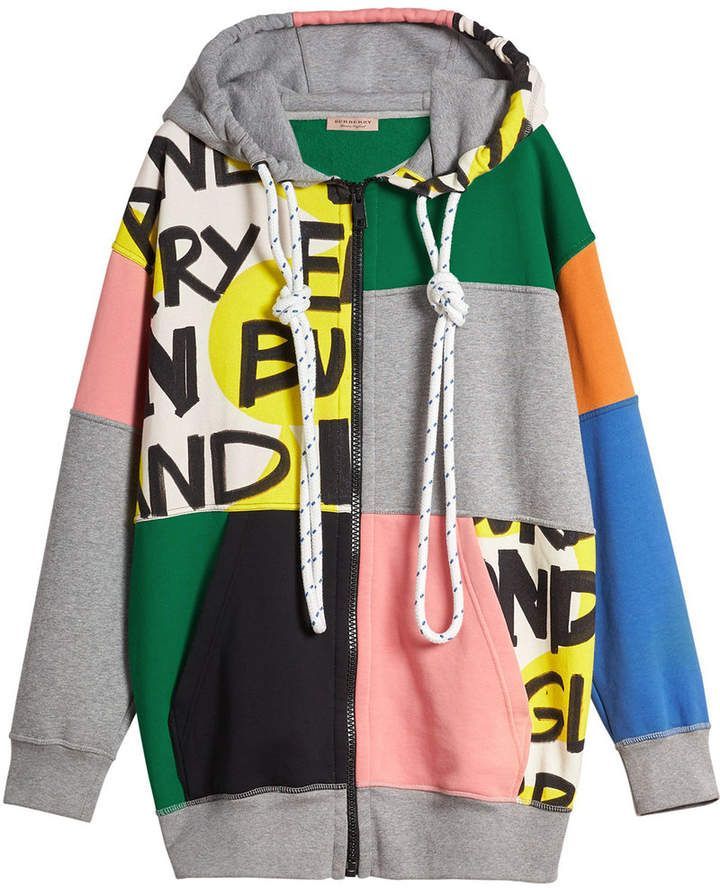 Burberry graffiti print patchwork hoodie Fashion Tips 191a2f39286