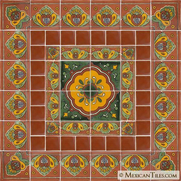 Decorative Mexican Tiles Adorable Mexican Tile  Decorative Talavera Tile Set  X7034  House Decor Design Ideas