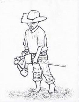 Stick Horse Racing Coloring Page Coloring Pages People Coloring