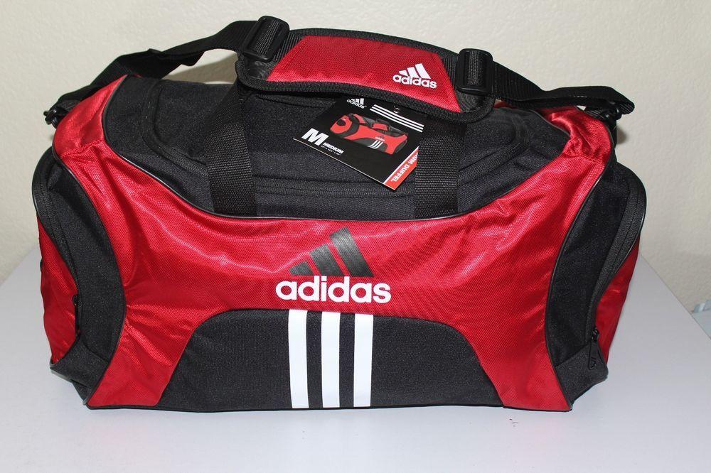 Adidas unisex scorer sport gym duffle bag medium black   red 25