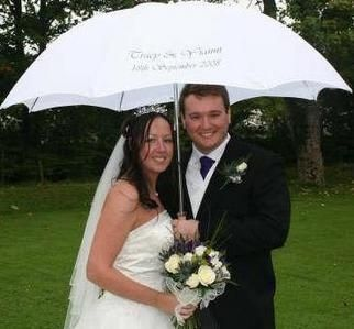 Personalised Umbrella For A Wet Wedding So Sweet In 2019
