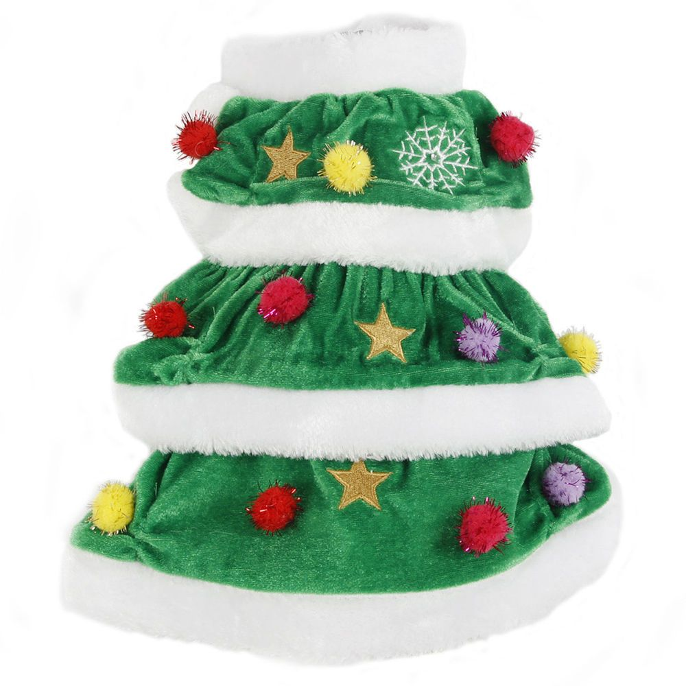 Pet Dog Costumes Halloween Christmas Tree Design Warm Apparel Puppy Dog Clothes Dog Winter Clothes Halloween Puppy Dog Halloween Costumes