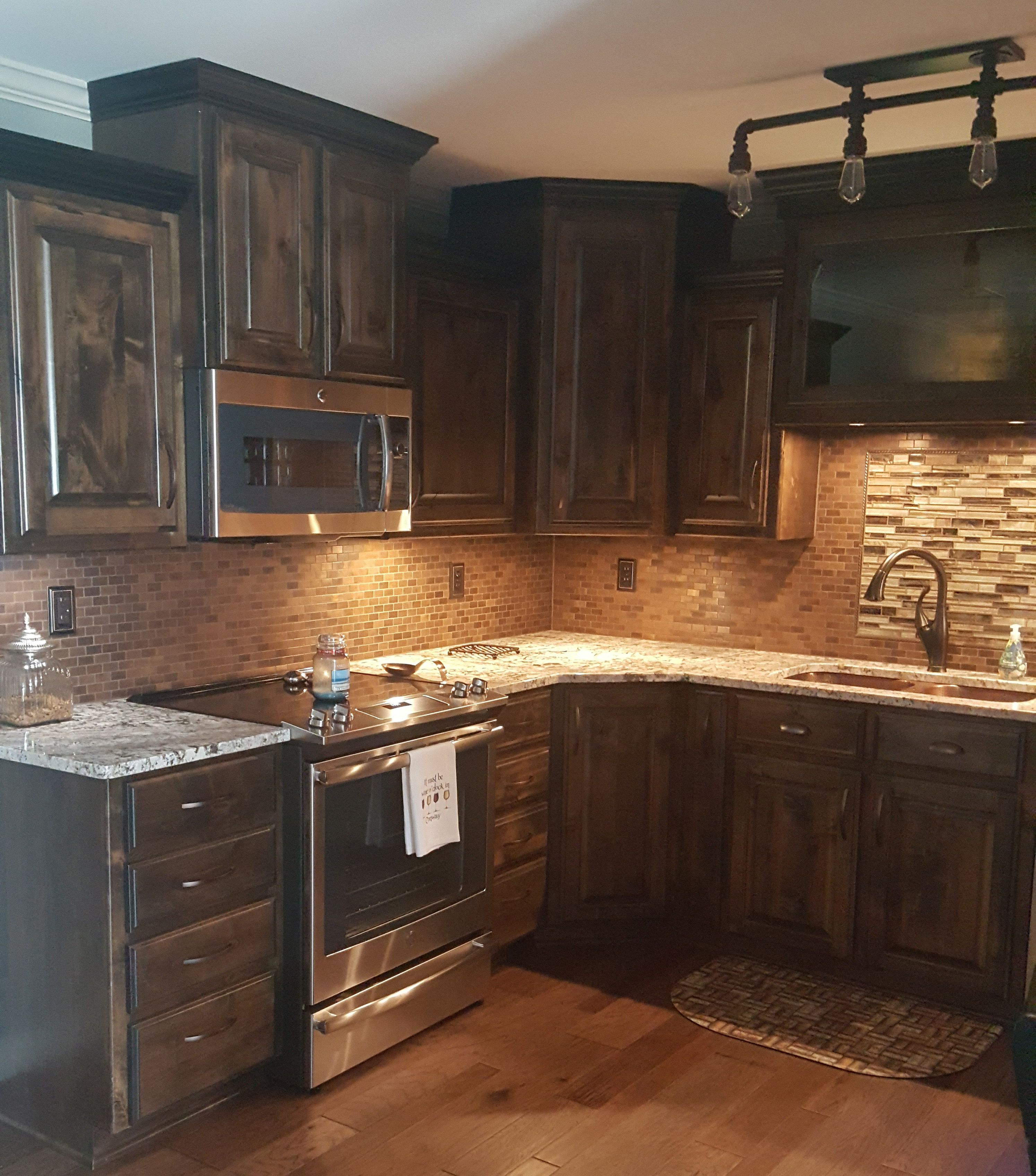 Eden Mosaic Tile Medium Brick Antique Copper Mosaic Tile Emt T13 Cop At Kitchen Design Countertops Rustic Kitchen Copper Mosaic Tile