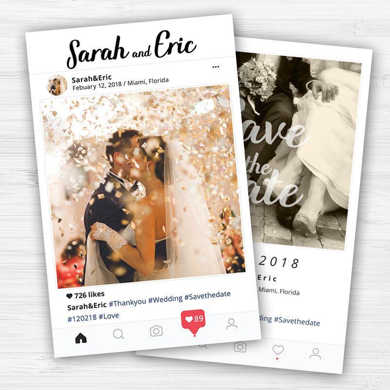 Instagram Save The Date Card Wedding Invitation Card Https Etsy Me 2e32hlt Wedding Scroll Wedding Invitations Wedding Invitation Cards Wedding Invitations