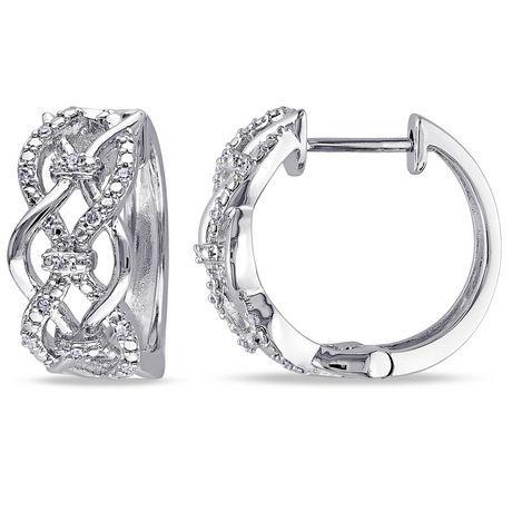 Miabella 1 10 Carat T W Diamond Sterling Silver Infinity