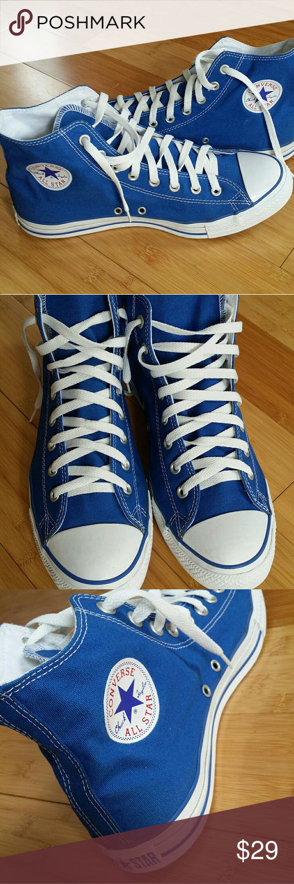 46831b6ecb0de0 CONVERSE CHUCK TAYLOR ALL STAR SNEAKERS. SIZE 11. WOMEN S 13. HIGH TOP.  LACE UP. ROYAL BLUE. HAND WASHED . CONVERSE Shoes Sneakers