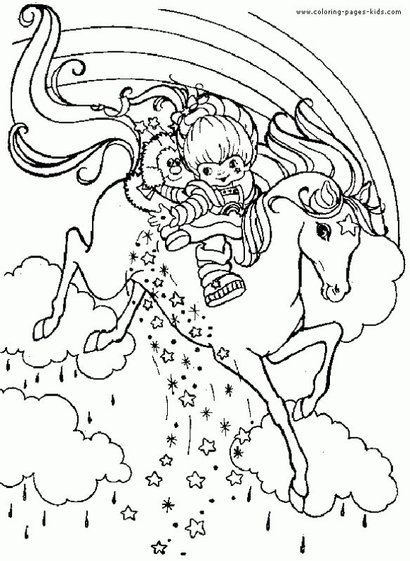 Unicorn Descending The Sky Through Rainbow Coloring Pages Letscolorit Com Horse Coloring Pages Cartoon Coloring Pages Coloring Pages