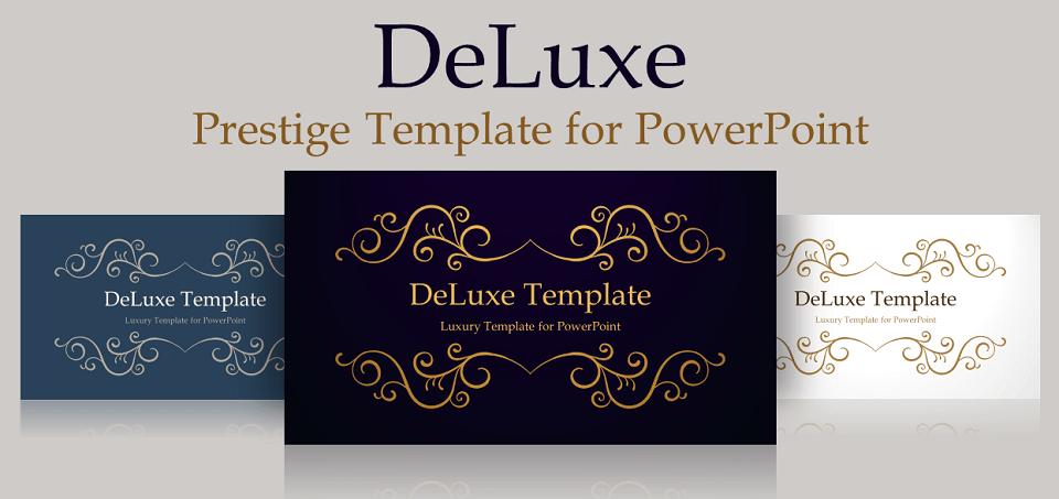 Deluxe luxury powerpoint template pinterest template and luxury deluxe free powerpoint template luxury toneelgroepblik Images