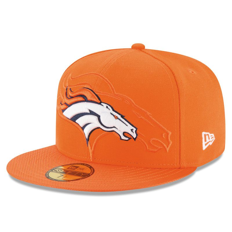 detailed look a83e1 2c7c1 Denver Broncos New Era Sideline Official 59FIFTY Fitted Hat - Orange