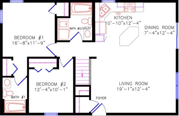 30x40 house plans with basement home design and style for 30x40 floor plan