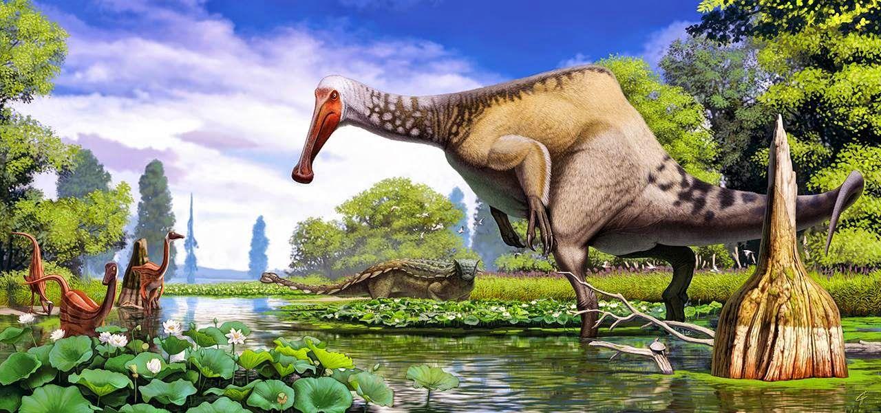 Palaeos La Historia De La Vida En La Tierra Deinocheirus Y Su Cambio De Look Arte De Dinosaurio Animales Extintos Animales Prehistóricos